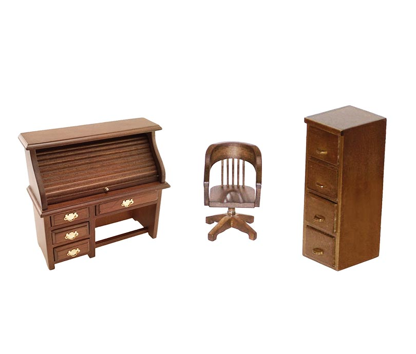 miniature office furniture pm research