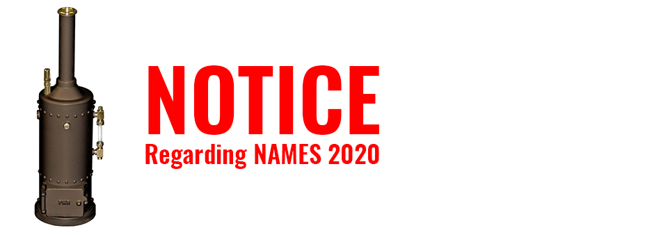 NAMES Show Cancelled - Click for details